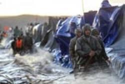 Защита пятикилометровой дамбы на Амуре