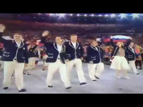Российская сборная на Параде Наций во время открытия Олимпиады-2016 | «Россия для всех»